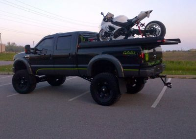 Lifted Ford With A Street Bike